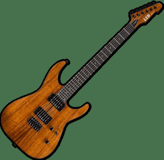 ESP LTD M-1000HT Koa Top Electric Guitar in Natural LM1000HTKNAT