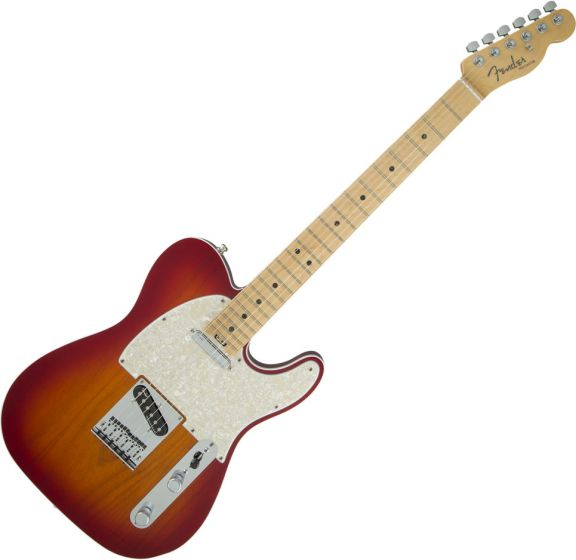 Fender American Elite Telecaster Electric Guitar in Aged Cherry Burst 0114212731