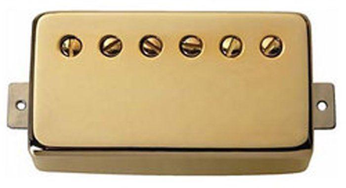 "Seymour Duncan Humbucker SH-11 Custom ""Custom"" Pickup Gold Cover 11102-70-Gc"