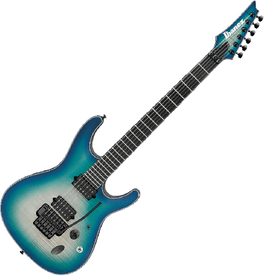 Ibanez S Iron Label SIX6DFM Electric Guitar in Blue Space Burst SIX6DFMBCB