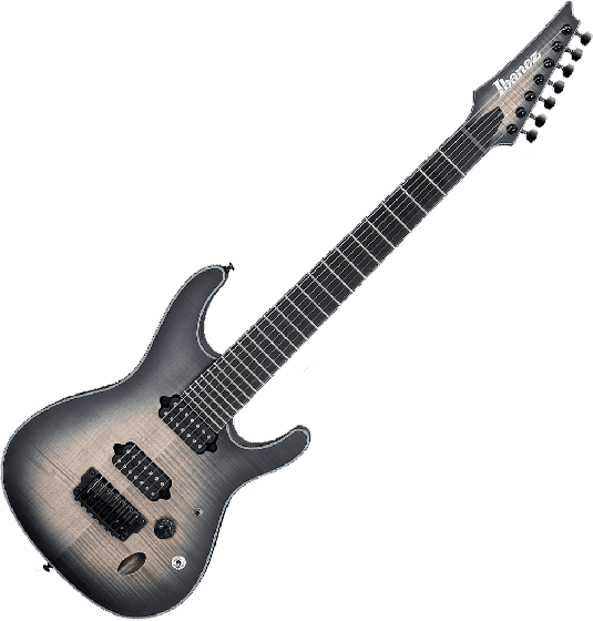 Ibanez S Iron Label SIX7FDFM 7 String Electric Guitar in Dark Space Burst SIX7FDFMDCB