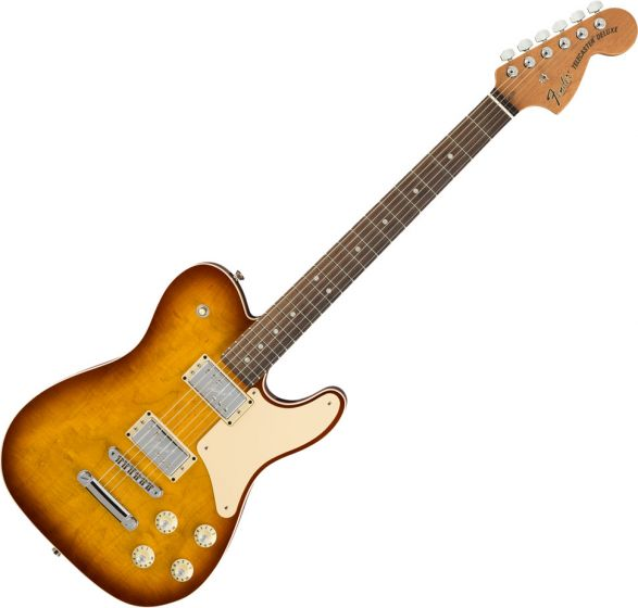 Fender 2018 Limited Edition Troublemaker Tele Electric Guitar in Ice Tea Burst 0176020774