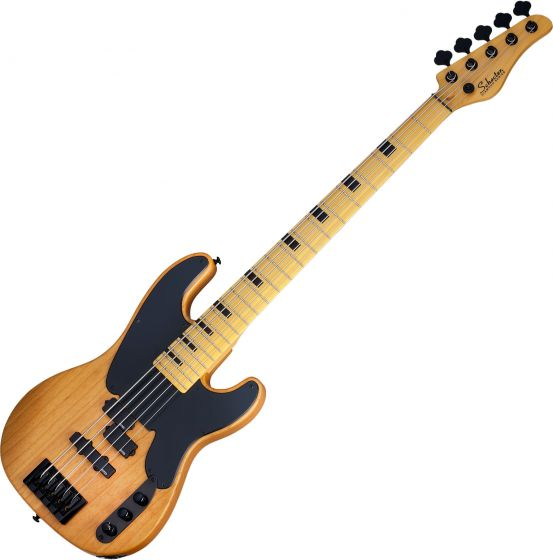 Schecter Model-T Session-5 Electric Bass Aged Natural Satin sku number SCHECTER2847