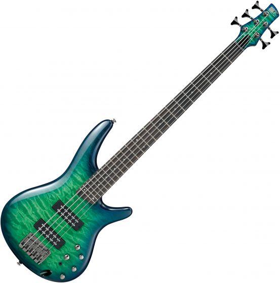 Ibanez SR Standard SR405EQM 5 String Electric Bass Surreal Blue Burst Gloss SR405EQMSLG