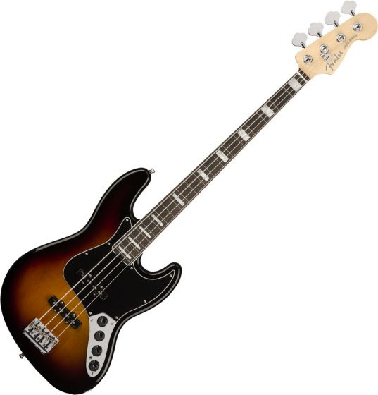 Fender American Elite Jazz Bass Electric Guitar Ebony Fingerboard 3-Color Sunburst 0197001700