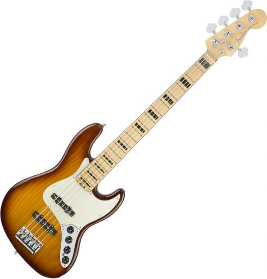 Fender American Elite Jazz Bass Electric Guitar V Ash Tobacco Sunburst 0197102752