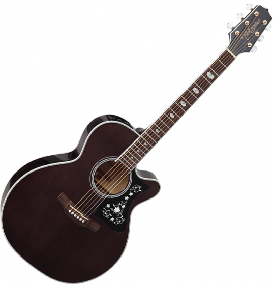 Takamine GN75CE NEX Acoustic Electric Guitar Transparent Black TAKGN75CETBK