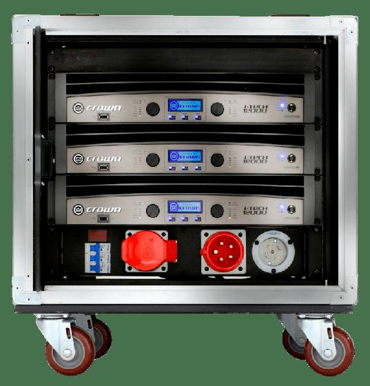 Crown Audio Vrack 1200HD Empty Amplifier Rack GVRACK12000HD