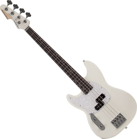 Schecter Banshee Left Handed Electric Bass Olympic White SCHECTER1443