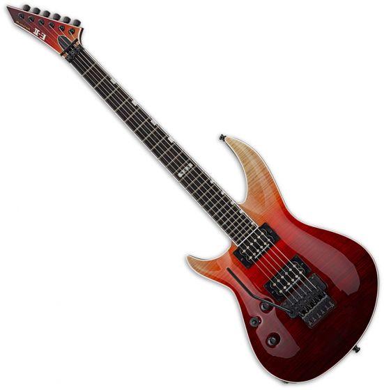 ESP E-II Horizon-III FR Black Cherry Fade Electric Guitar Left Hand EIIHOR3FMFRBCHFDLH