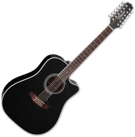 Takamine EF381SC Legacy Series 12 String Acoustic Guitar in Gloss Black Finish TAKEF381SC