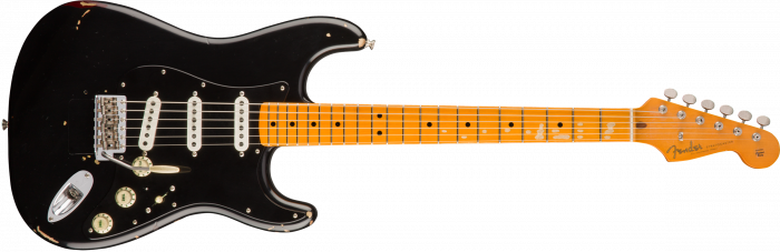 Fender Custom Shop David Gilmour Signature Stratocaster  Black over 3-Color Sunburst Electric Guitar 150069806