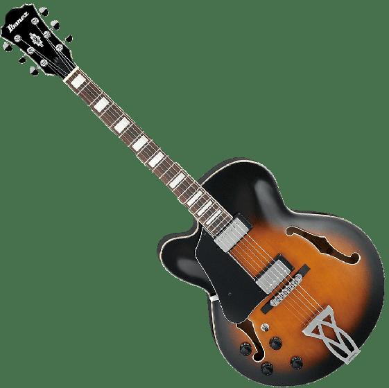Ibanez Artcore AF75LVSB Left-Handed Hollow Body Electric Guitar in Vintage Sunburst Finish AF75LVSB