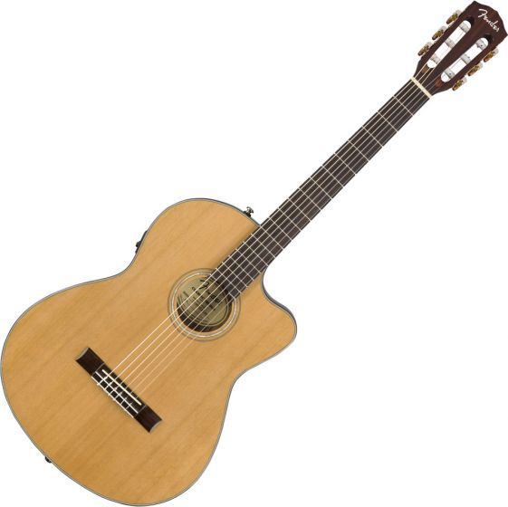Fender CN-140SCE Nylon Thinline Acoustic Guitar Natural 0970264321
