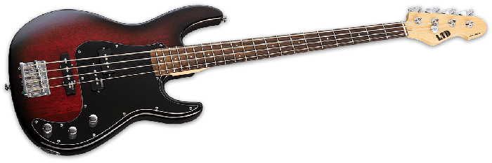 ESP LTD AP-204 Electric Bass in Burgundy Burst LAP204BGB