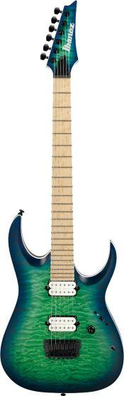 Ibanez RGA Iron Label RGAIX6MQM SRB Surreal Blue Burst Electric Guitar RGAIX6MQMSRB