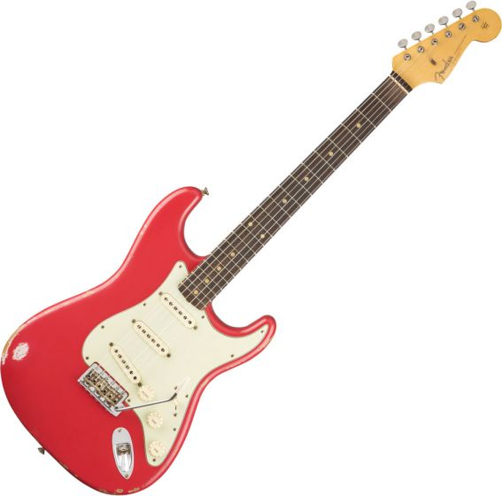 Fender Custom Shop 1961 Relic Stratocaster Electric Guitar Fiesta Red 1550610840