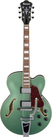 Ibanez AFS75T MGF AFS Artcore 6 String Metallic Green Flat Semi Hollow Body Electric Guitar AFS75TMGF