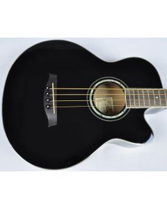 Ibanez AEB10E-BK Artwood Series Acoustic Electric Bass in Black High Gloss Finish