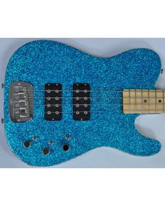 G&L USA ASAT Tom Hamilton Electric Bass in Turquoise Metal Flake