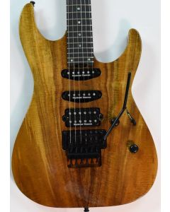 ESP USA M-III Koa Top Electric Guitar in Natural Gloss Finish
