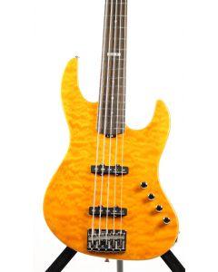 ESP E-II J-5 QM Quilted Maple Amber Bass Guitar