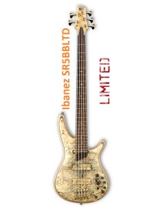 Ibanez SR5BBLTD Limited Premium Buckeye Burl Rare Bass Guitar