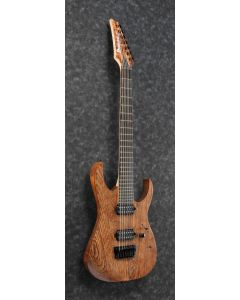 """Ibanez RGIXL7 ABL RG Iron Label 7 String 27"""" scale Antique Brown Stained Low Gloss Electric Guitar"""