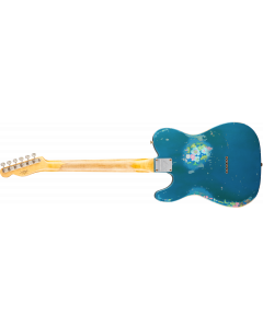 Fender Custom Shop Limited Edition Heavy Relic '60s HS Tele  Aged Lake Placid Blue over Blue Flower Electric Guitar