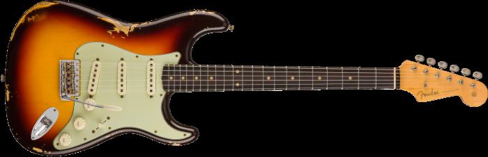 Fender Custom Shop 1960 Relic Stratocaster  Chocolate 3-Color Sunburst Electric Guitar 1530160897