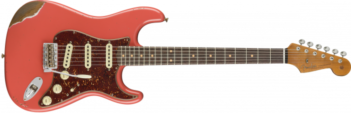 Fender Custom Shop 2018 Limited Edition '60 Roasted Strat Heavy Relic  Faded Aged Fiesta Red Electric Guitar 9235000740