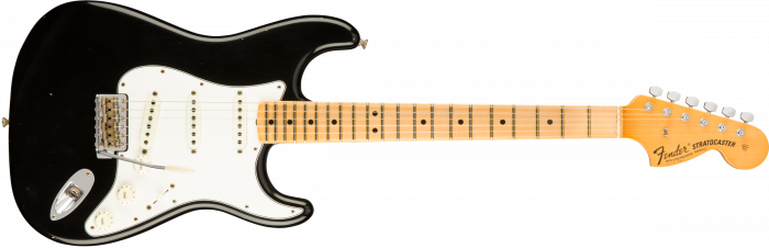 Fender Custom Shop 1969 JOURNEYMAN RELIC STRATOCASTER - MAPLE  Aged Black Electric Guitar 1546082806