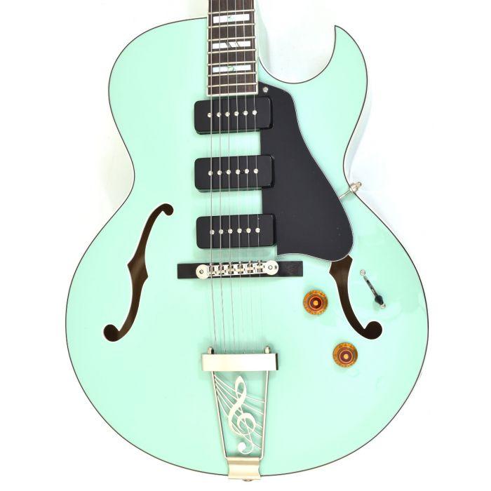 Dean Palomino Hollow Body Electric Guitar Sea Green Palomino Sg St