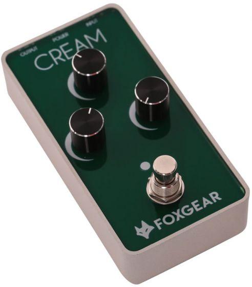 FoxGear Cream Vintage Screaming Overdrive Pedal FOX-CRM