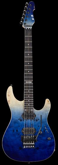 ESP E-II SN-2 Blue Natural Fade Electric Guitar w/Case EIISN2BMBLFD