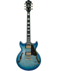 Ibanez AM Artcore Expressionist Jet Blue Burst AM93QM JBB Hollow Body Electric Guitar