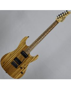 Schecter Masterworks Sunset Custom-II Zebrawood Electric Guitar in Gloss Natural
