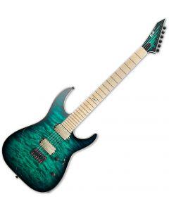 ESP E-II M-II NT Hipshot Electric Guitar Black Turqoise Burst