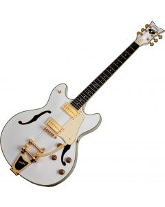 Schecter Signature Robin Zander Corsair Electric Guitar in Gloss White Finish