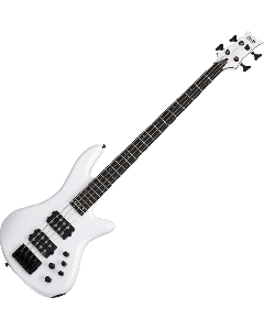 Schecter Stiletto Stage-4 Electric Bass in Gloss White Finish