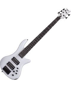 Schecter Stiletto Stage-5 Electric Bass in Gloss White