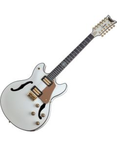 Schecter Wanye Hussey Corsair-12 Semi-Hollow Electric Guitar in Ivory Finish