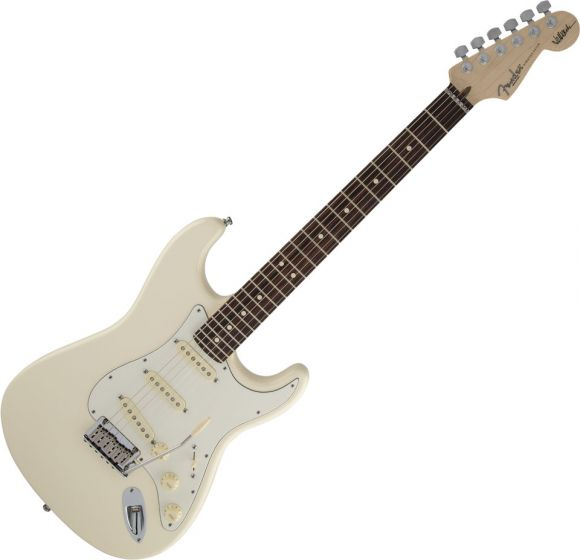 Fender Jeff Beck Stratocaster Electric Guitar Olympic White 0119600805