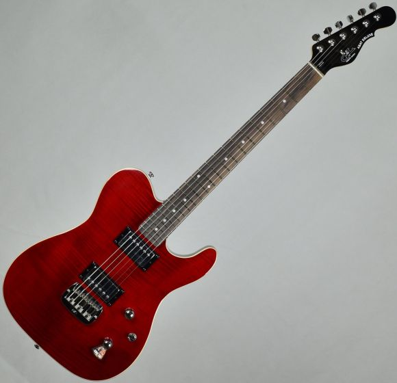 G&L Tribute ASAT Deluxe Carved Top Demo Electric Guitar Transparent Red TI-ASTD-TR.B 1283