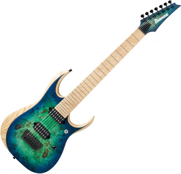 Ibanez RGD Iron Label RGDIX7MPB 7 String Electric Guitar Surreal Blue Burst RGDIX7MPBSBB