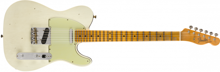 Fender Custom Shop Postmodern Telecaster Journeyman Relic  Aged Olympic White over Charcoal Frost Metallic Electric Guitar 9235000900