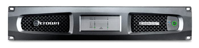 Crown Audio DCi 2 300N Two-channel 300W @ 4Ω Power Amplifier with BLU Link 70V/100V GDCI2X300N-U-US