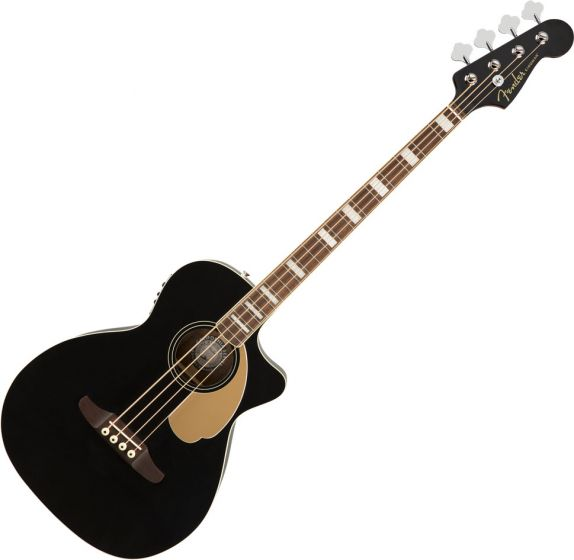 Fender Kingman Acoustic Bass Guitar Black 0970743106
