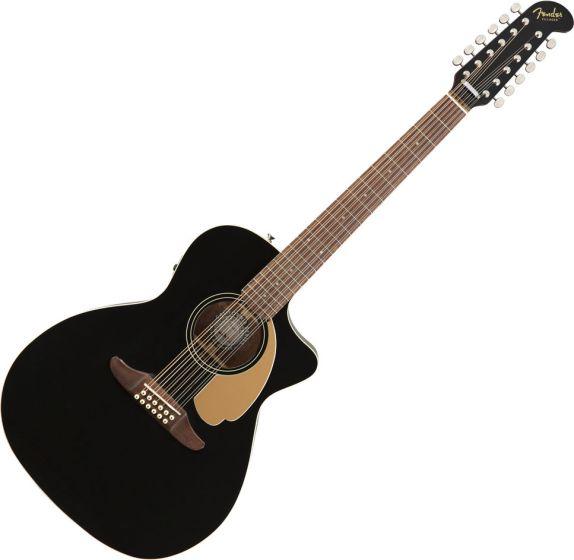 Fender Villager 12-String Acoustic Guitar Black V3 0970753006
