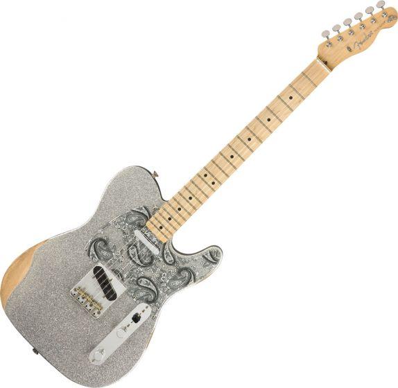 Fender Brad Paisley Road Worn Telecaster Electric Guitar Silver Sparkle 0145902317